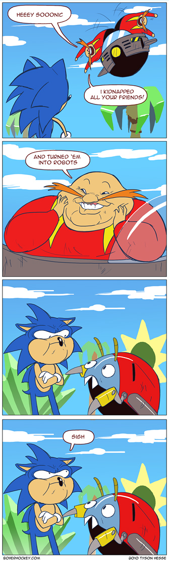 Quadrinhos do Boxer Hockey sobre o Sonic | The Twosday Code